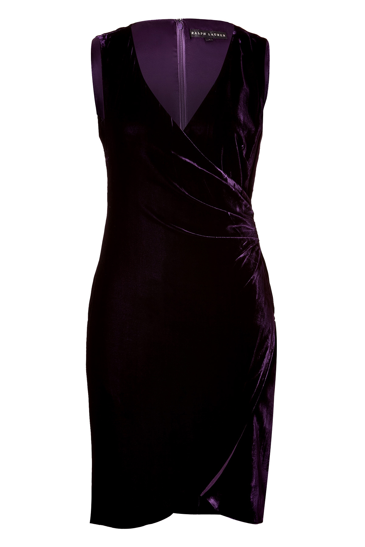 lyst ralph lauren black label silkblend velvet dress in