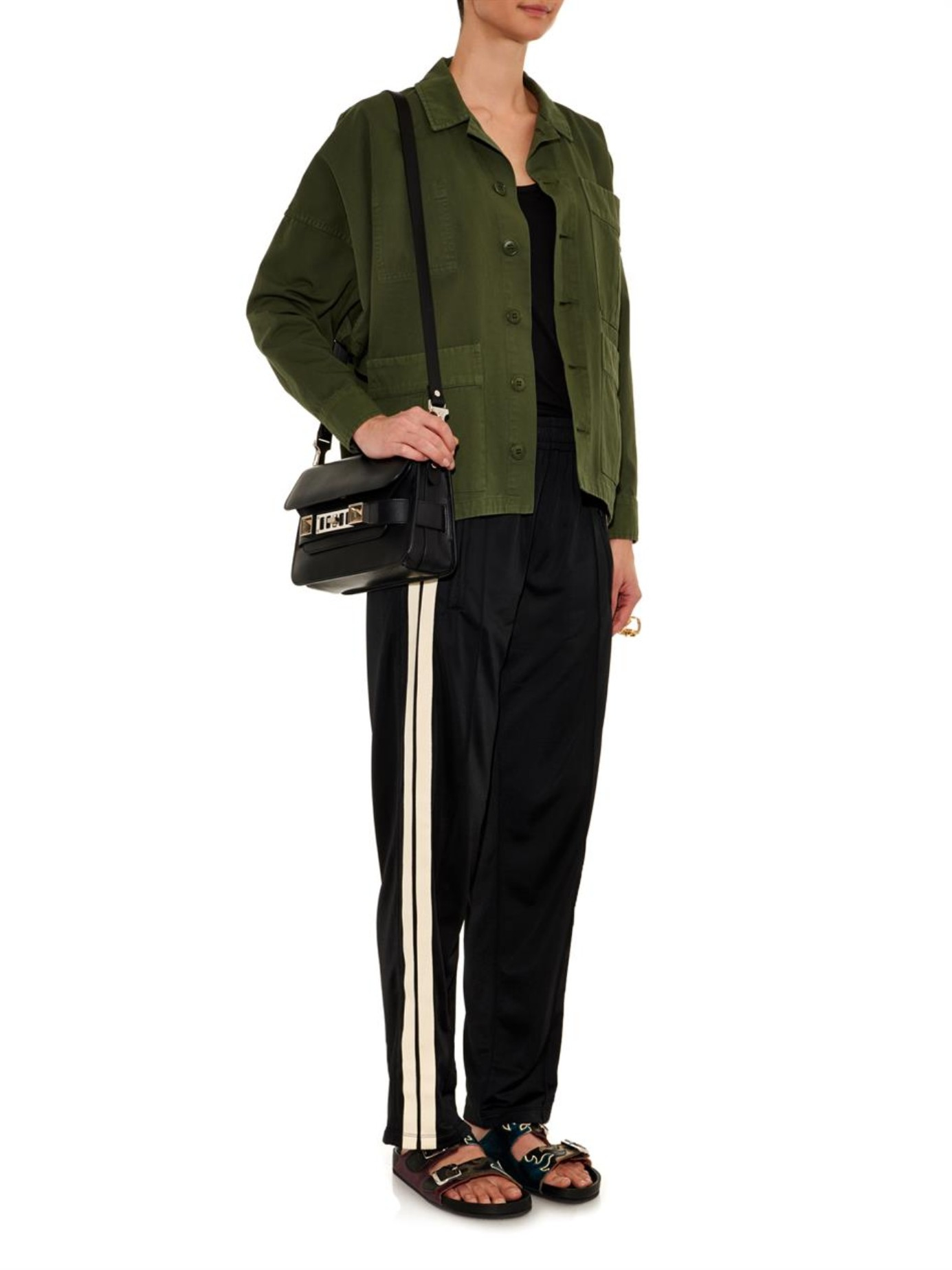 201 Toile Isabel Marant Patsy Relaxed Leg Trousers In Black