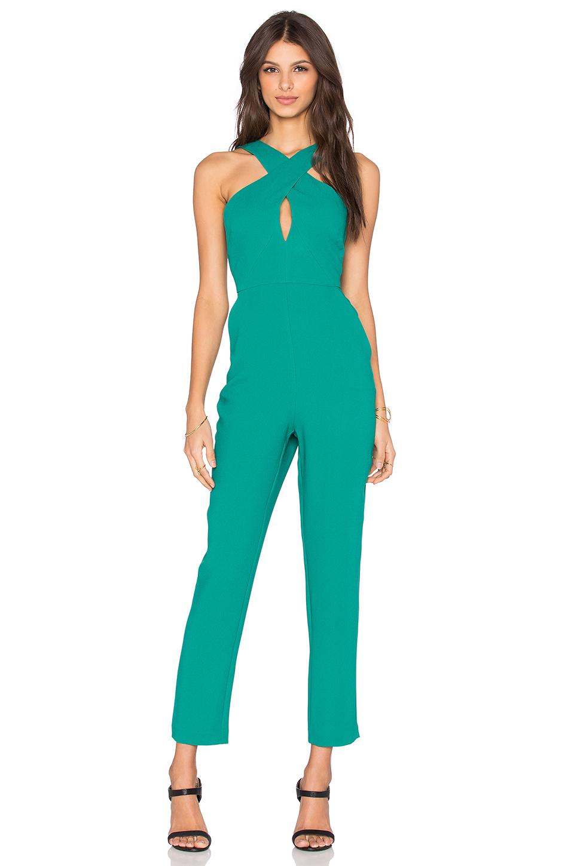Simple Green Jumpsuit Women