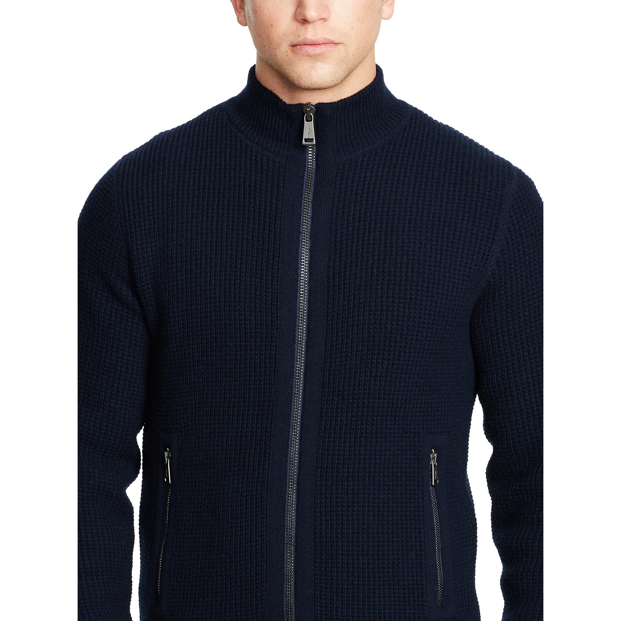 d14a2b2f7a Polo Ralph Lauren Blue Wool-blend Full-zip Sweater for men