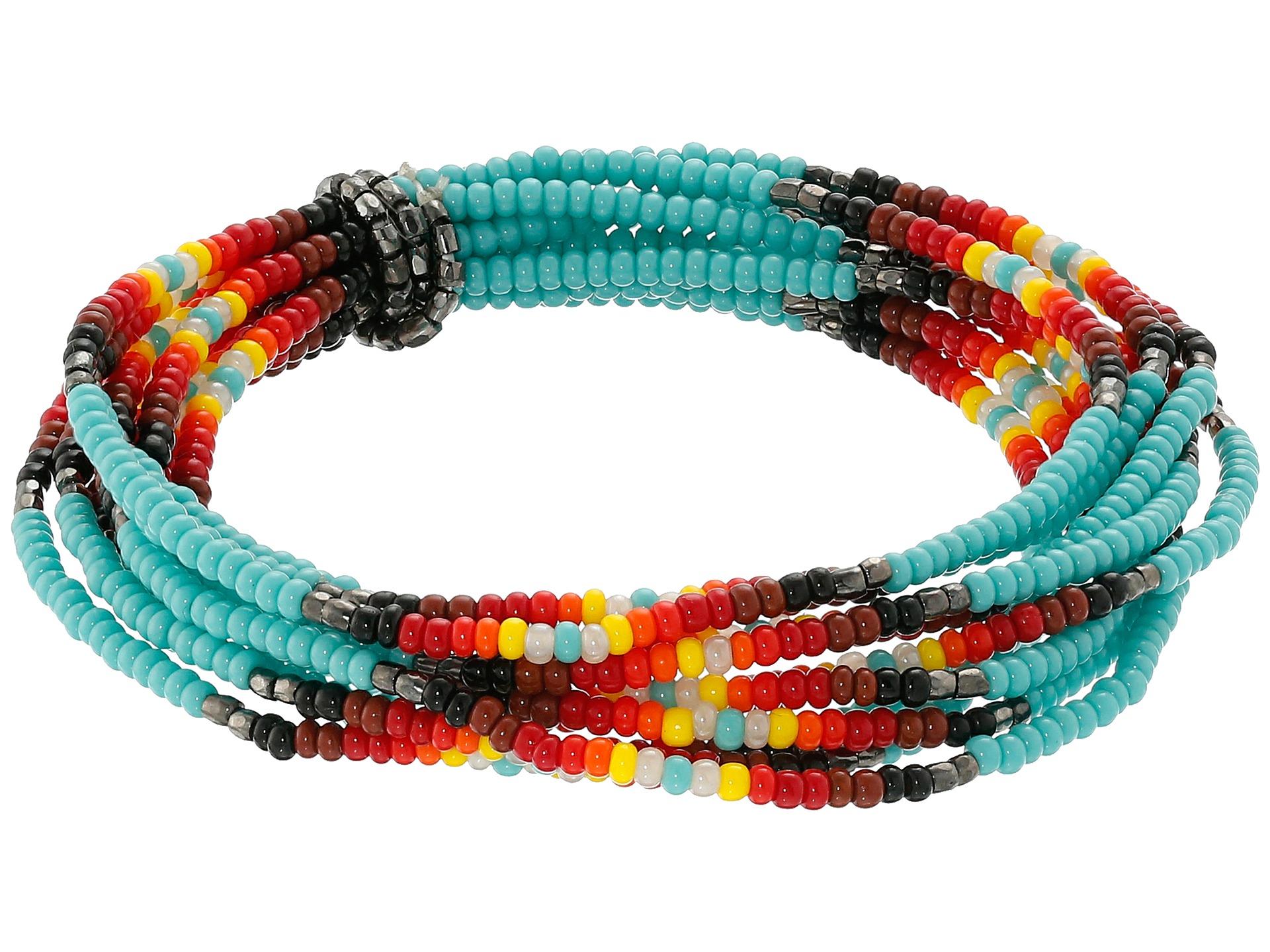 chan luu multi strand stretch seed bead bracelet in
