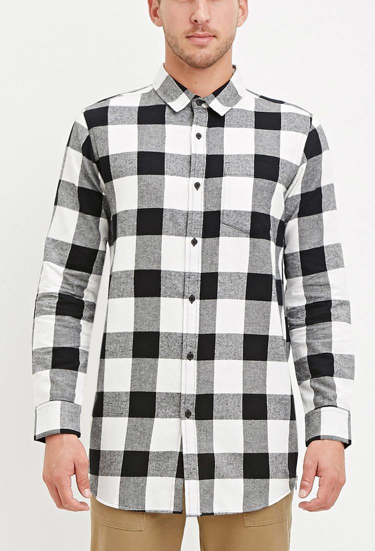 Forever 21 Buffalo Plaid Shirt In Black For Men Lyst