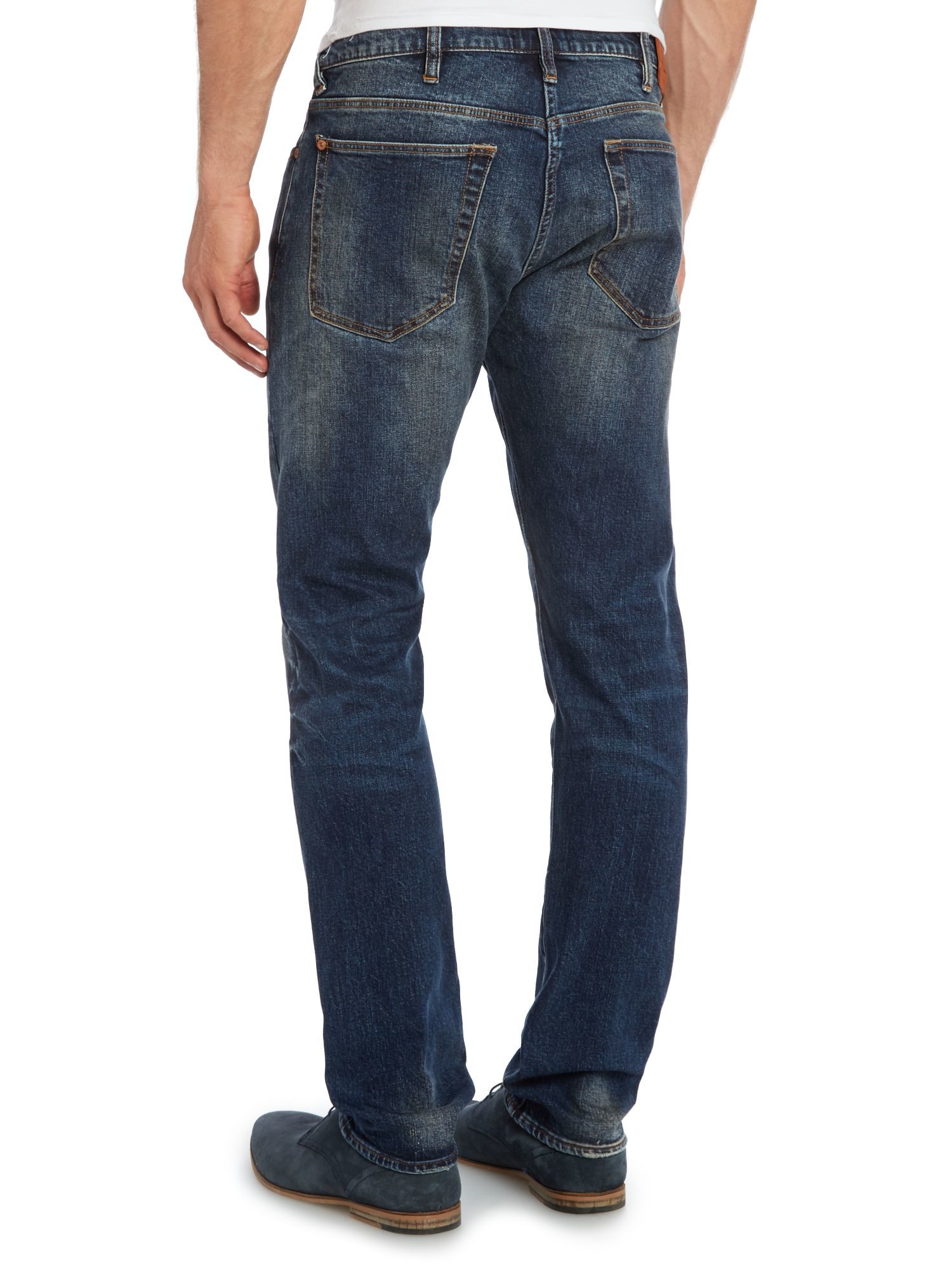 paul smith tapered fit mid wash jeans in blue for men lyst. Black Bedroom Furniture Sets. Home Design Ideas