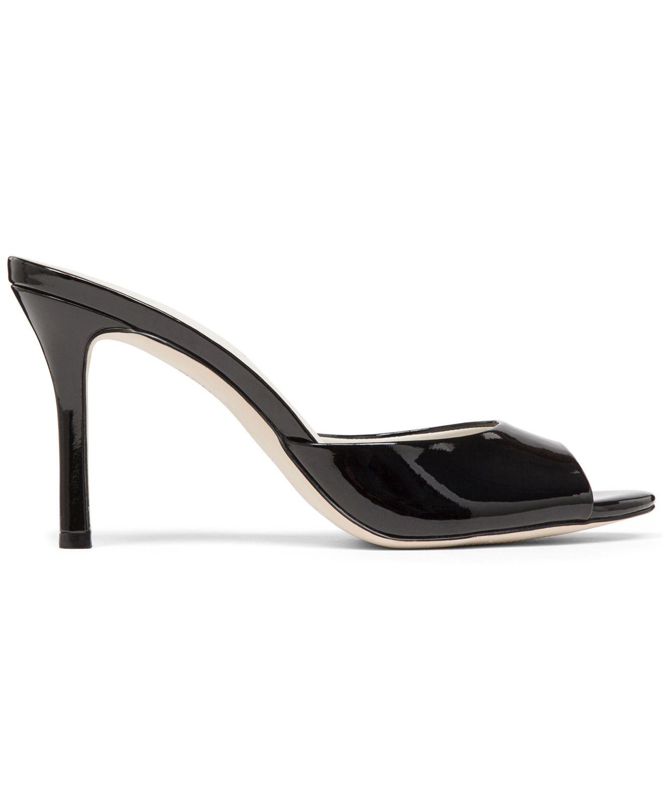 3154c719866 BCBGeneration Black Disco Slide Dress Sandals