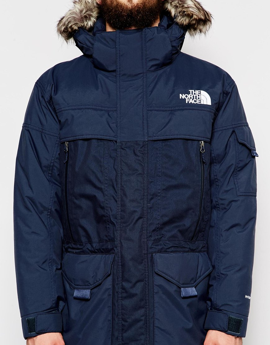 the north face mcmurdo 2 parka in blue for men lyst. Black Bedroom Furniture Sets. Home Design Ideas