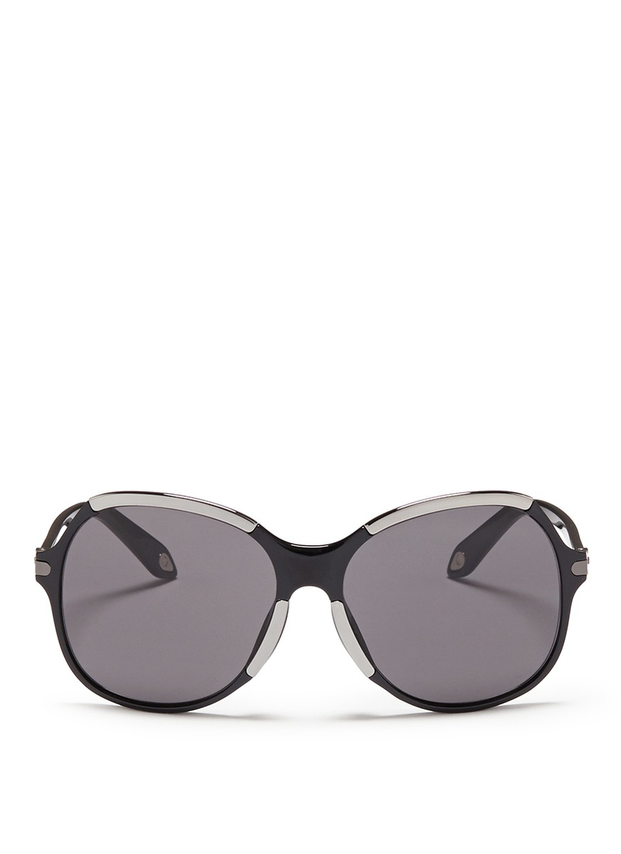 85a3f3b7a684 Lyst - Givenchy Metal Deco Oversize Acetate Sunglasses in Black