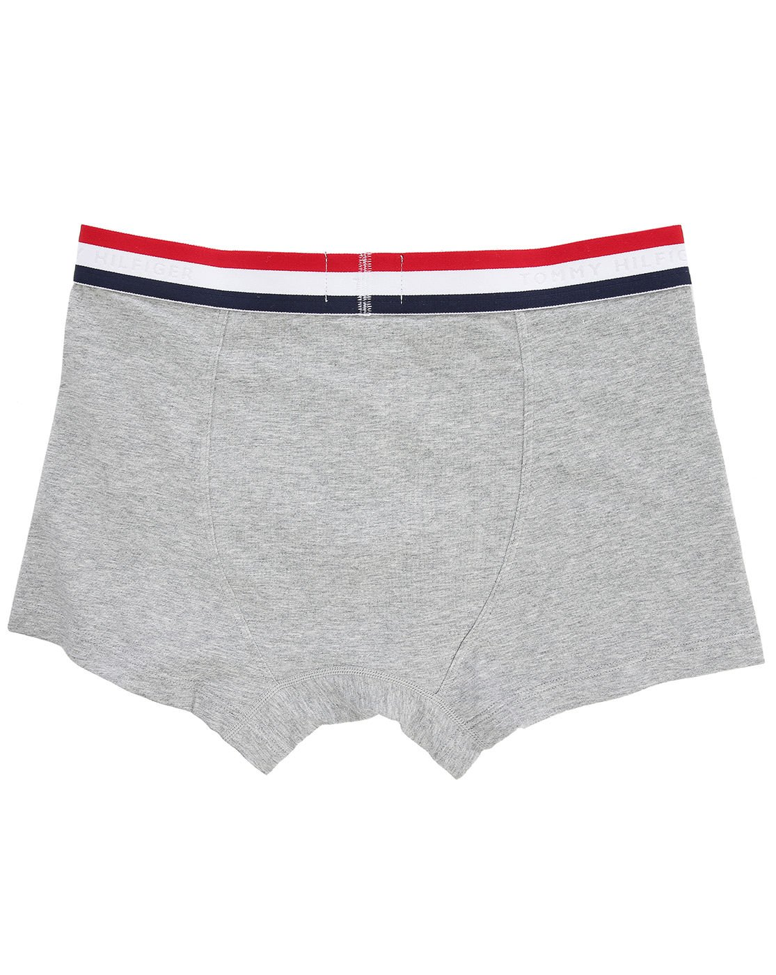 tommy hilfiger organic cotton grey boxer shorts with tricolour waistband in gray for men grey. Black Bedroom Furniture Sets. Home Design Ideas