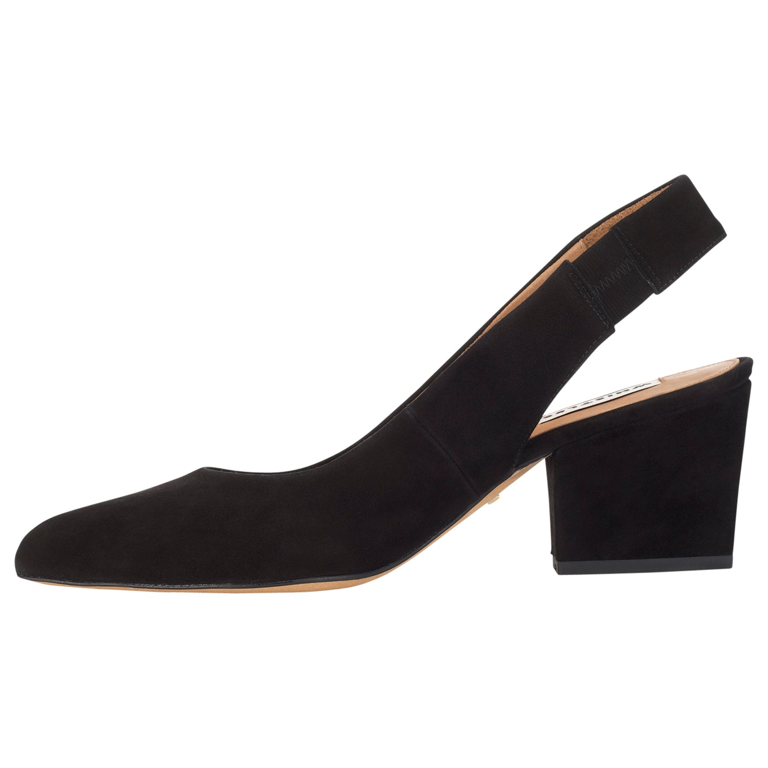 183c92cb5a Whistles Annie Block Heel Slingback Shoes in Black - Lyst