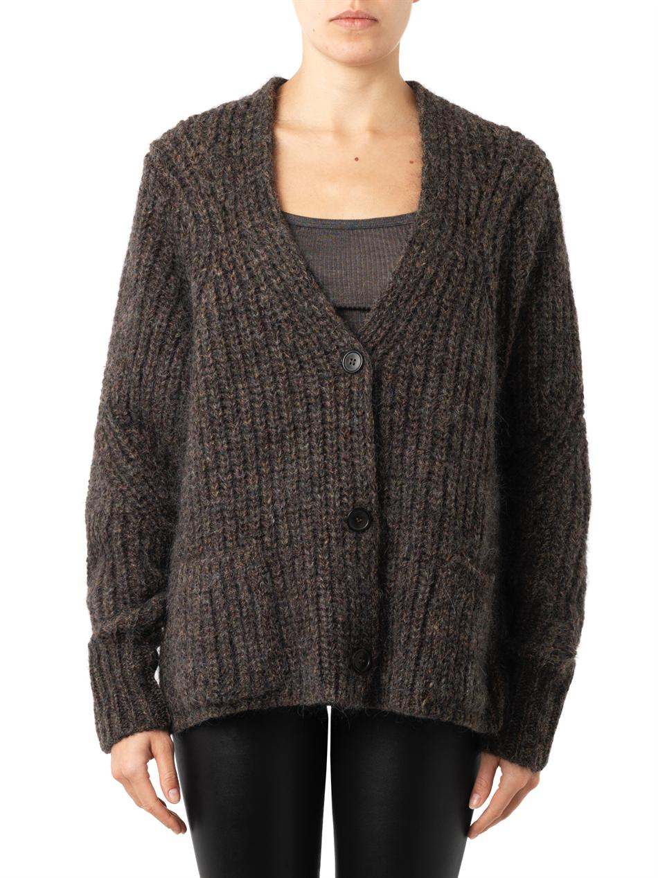 Isabel Marant Franck Chunky-knit Cardigan in Brown