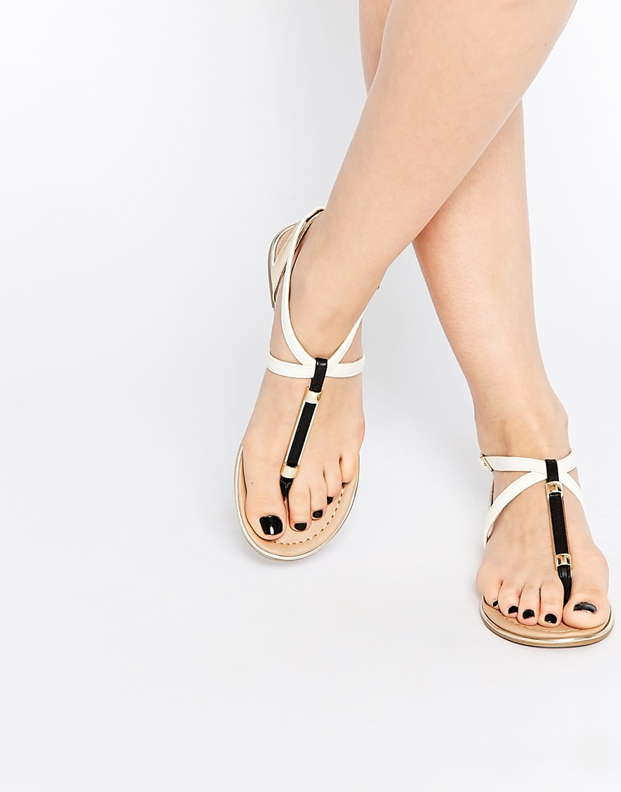 Mirenalla Call Toe Sandals Black Post Flat It Spring L4ARj35