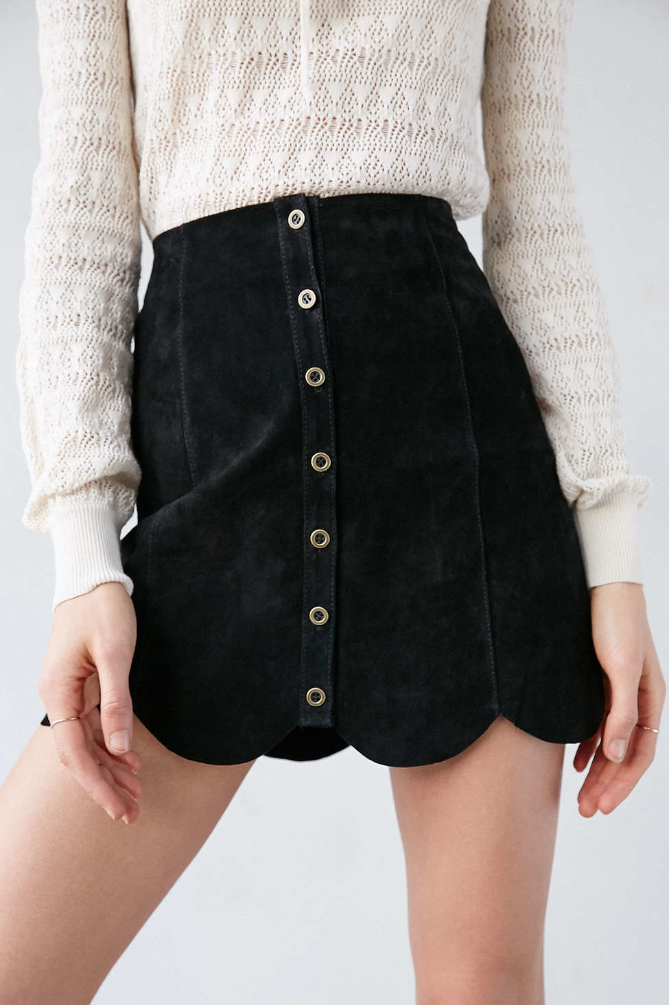 Black Suede A Line Skirt | Fashion Skirts