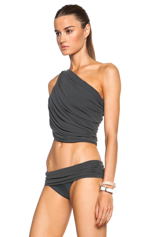 569381cd60f Norma Kamali Diana Bra Bikini Top in Metallic - Lyst