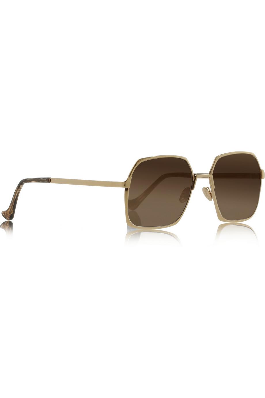 Square Gold Frame Sunglasses : Cutler & Gross Square-Frame Gold-Tone Sunglasses in Gold ...