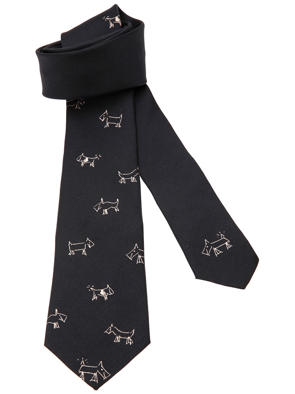 Paul smith Dog Print Tie in Black for Men | Lyst