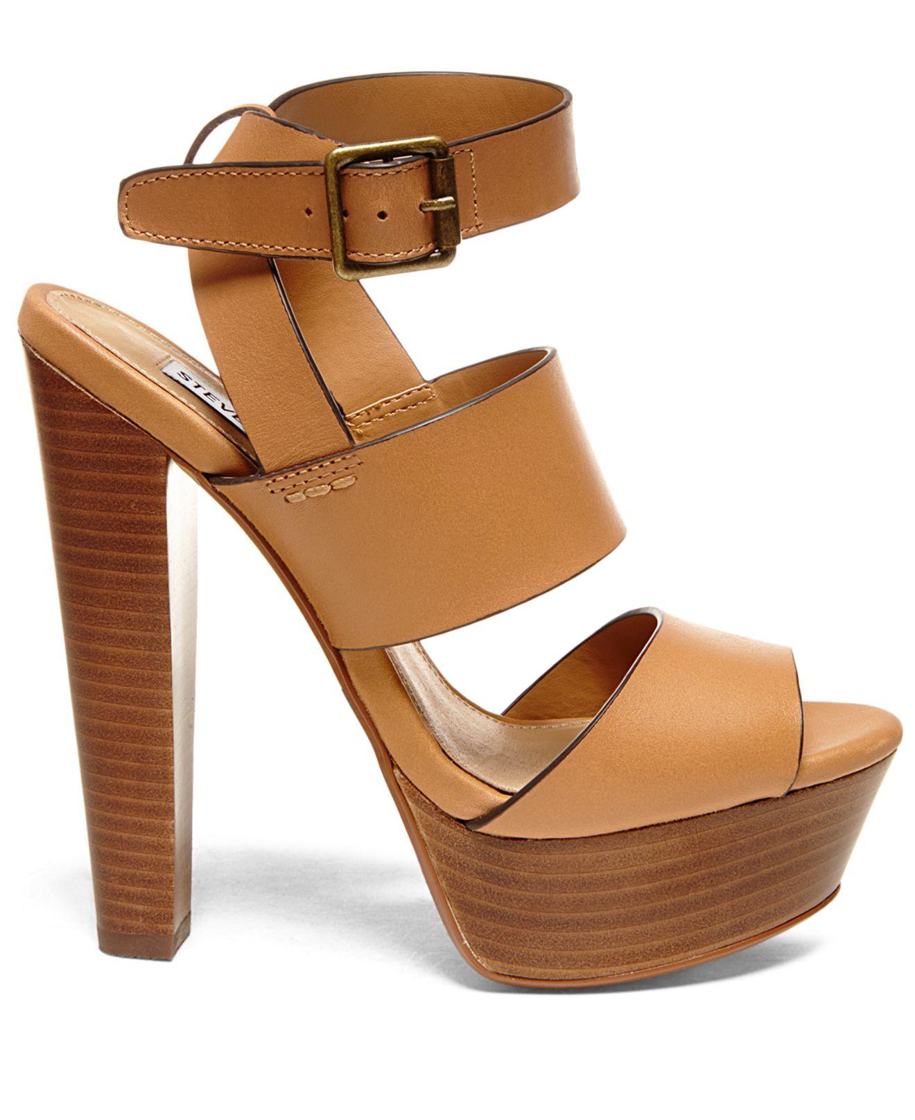 03d8300d056e Lyst - Steve Madden Women s Dezzzy Platform Dress Sandals in Brown