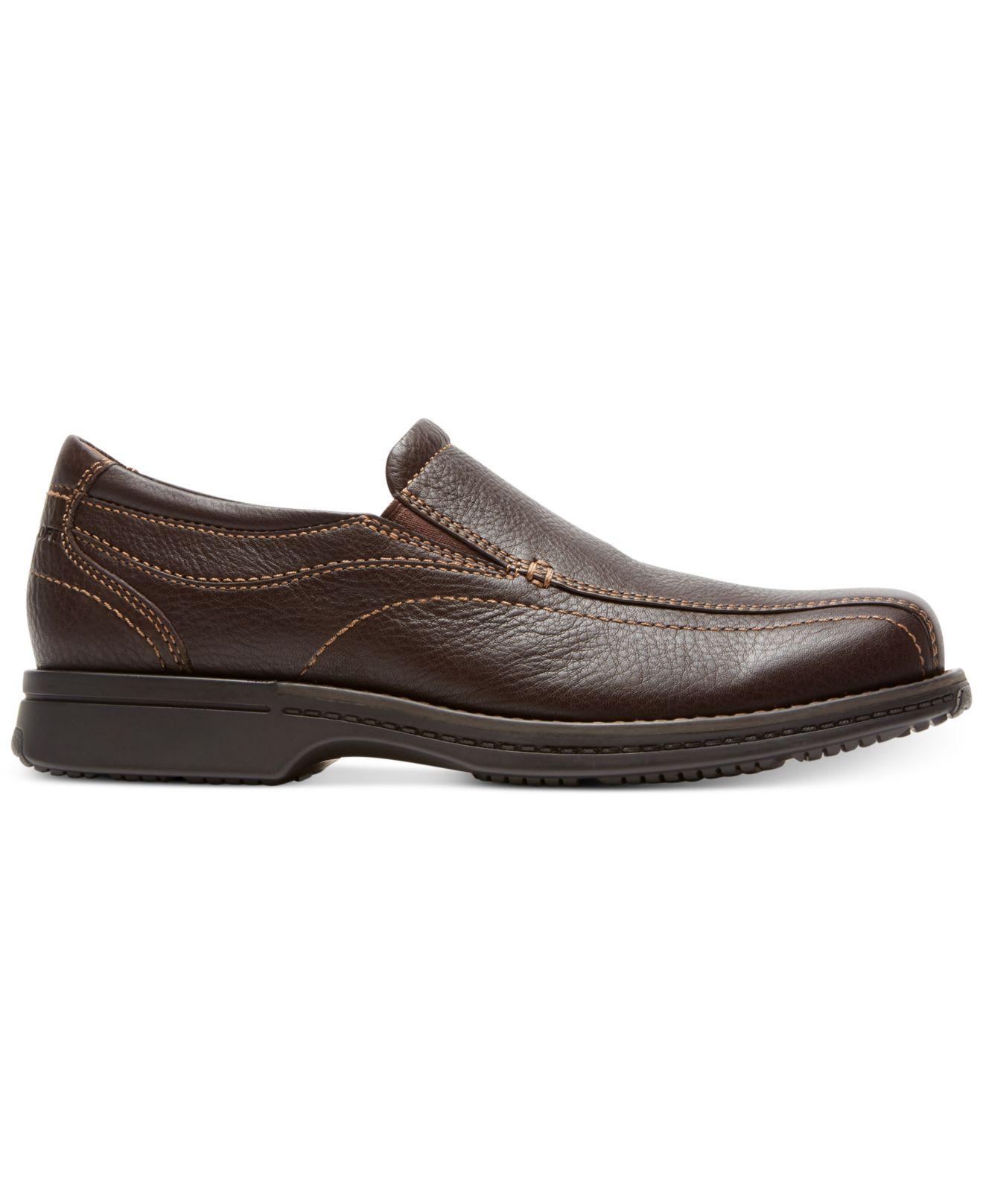 rockport classic revised slip on shoes in brown
