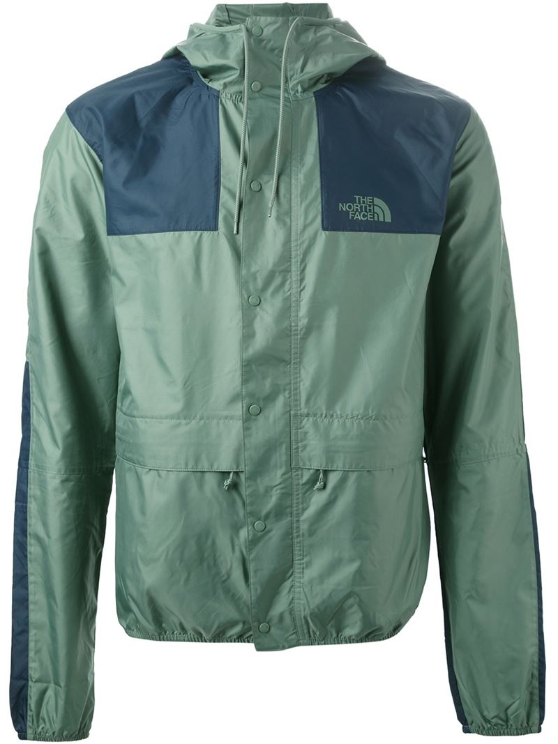 Lyst The North Face Hooded Windbreaker Jacket In Green