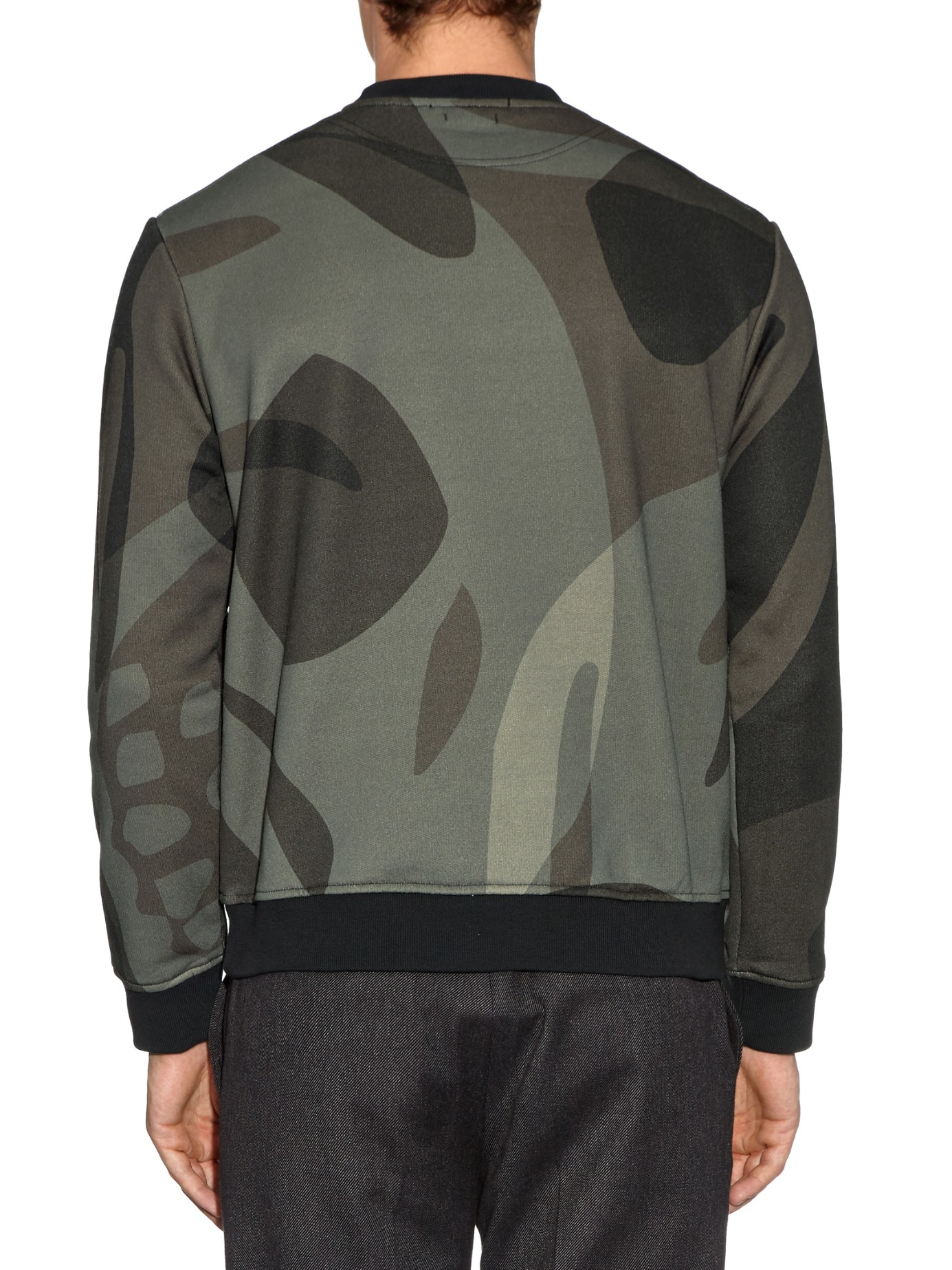 alexander mcqueen skull camouflage print sweatshirt in natural for men lyst. Black Bedroom Furniture Sets. Home Design Ideas