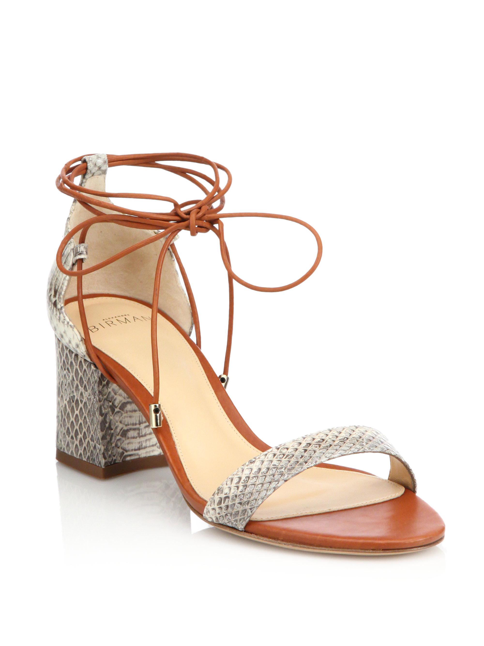 discount 2014 newest Alexandre Birman Python-Trimmed Cutout Sandals cheap sale visa payment cheap discount 6ZTjP