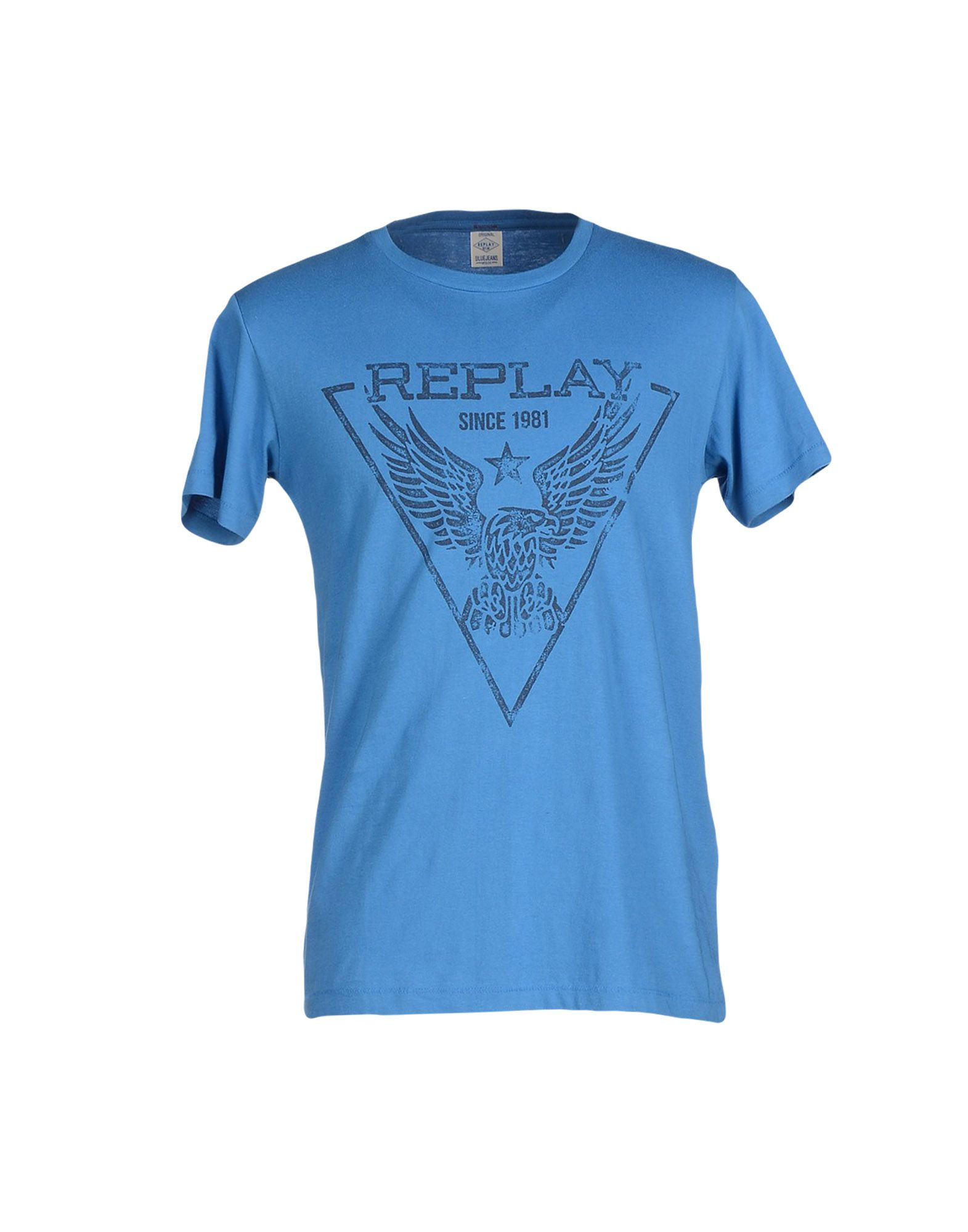 Lyst Replay T Shirt In Blue For Men