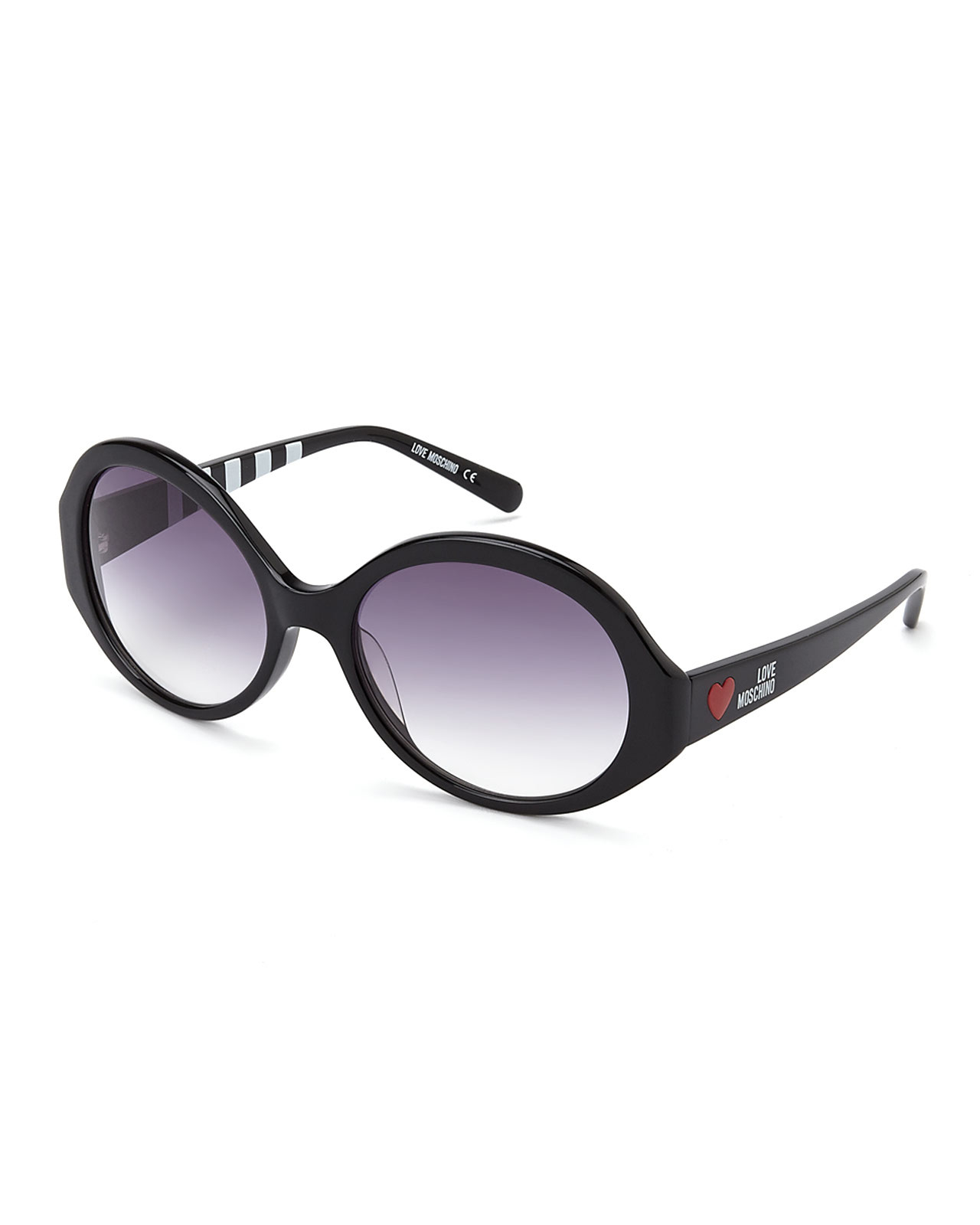Moschino Cutout detail round sunglasses
