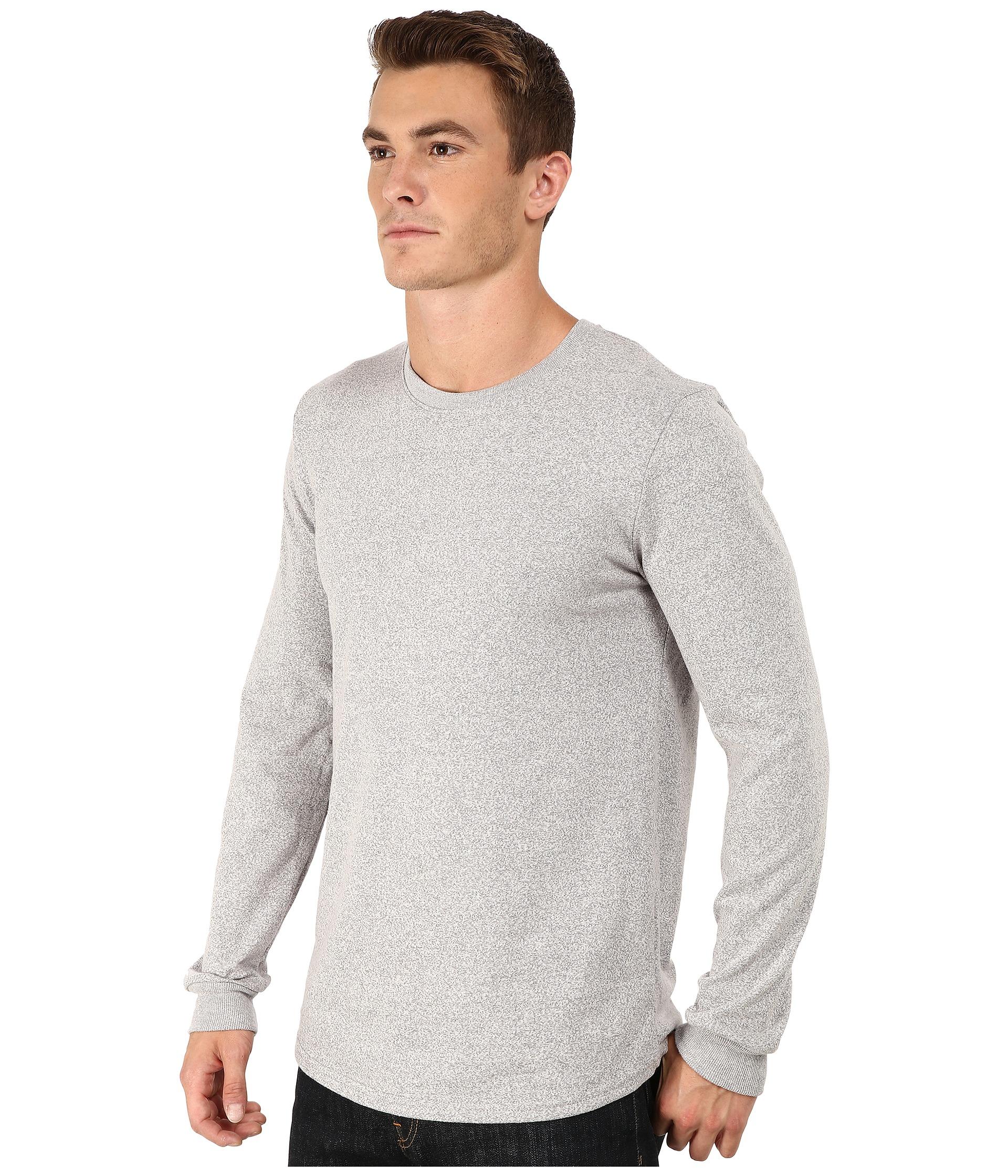 Alternative apparel mock twist jersey warm up long sleeve for Mock long sleeve t shirts