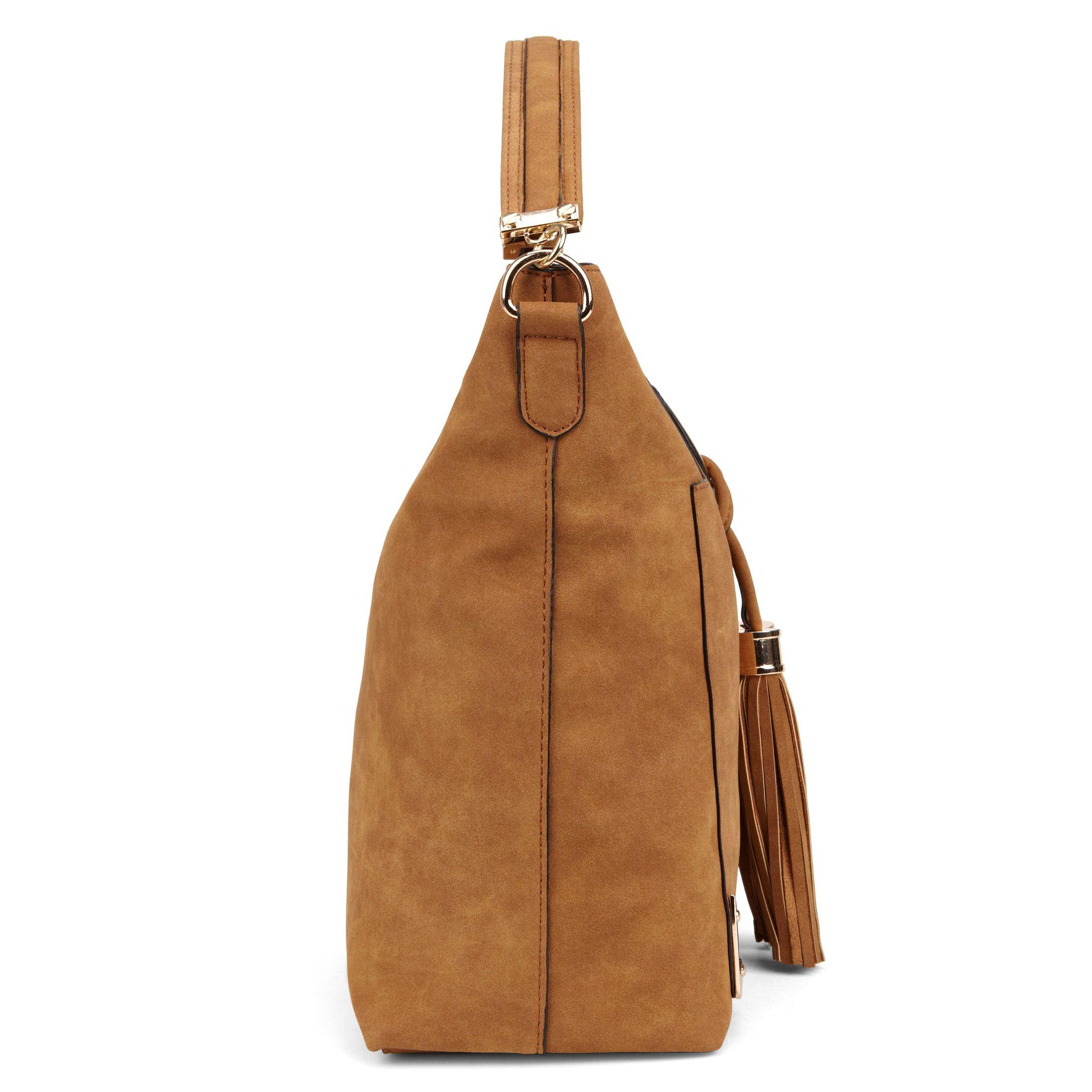 Aldo Tippey Tassle Hobo Bag in Brown | Lyst