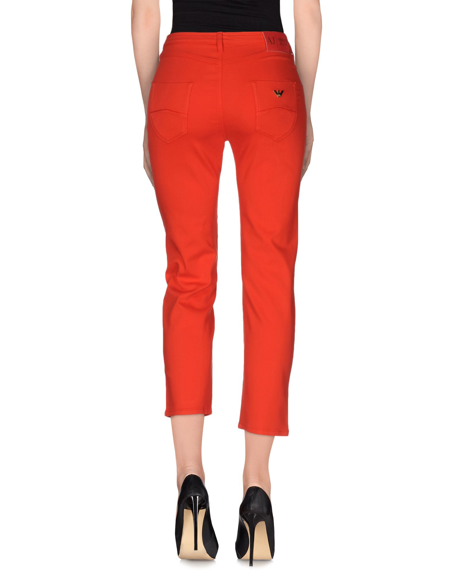 Amazing Moschino Double Capsules Print Womens Casual Pants Orange
