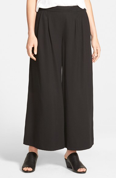 Crepe Wide-Leg Ankle Pants. Sale $ Orig $