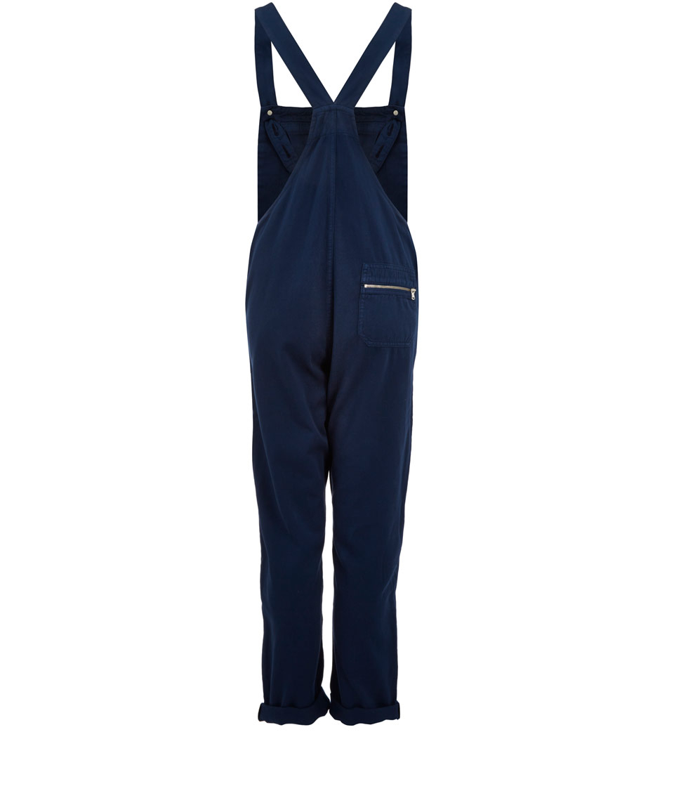 M.i.h Jeans Navy The Boiler Dungarees in Blue