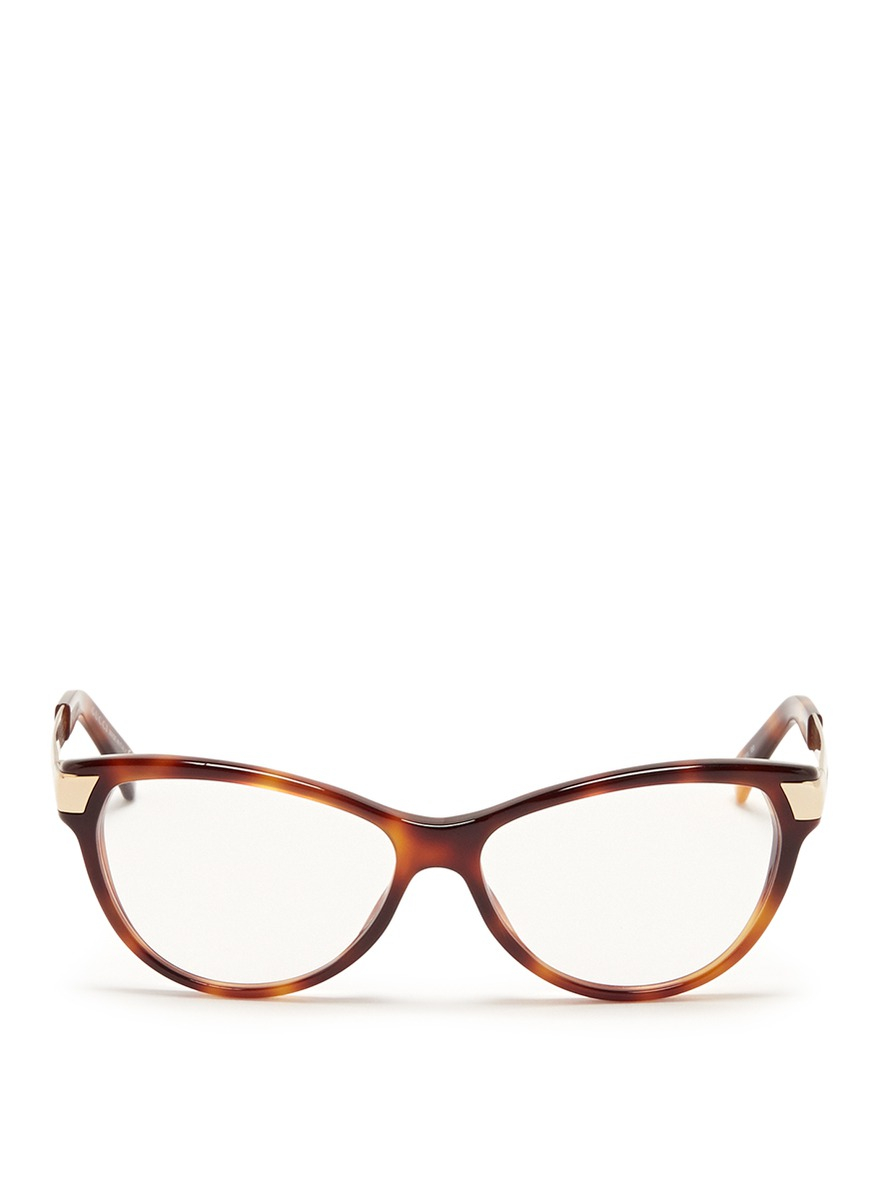 Gucci Metal Arm Tortoiseshell Frame Optical Glasses in ...