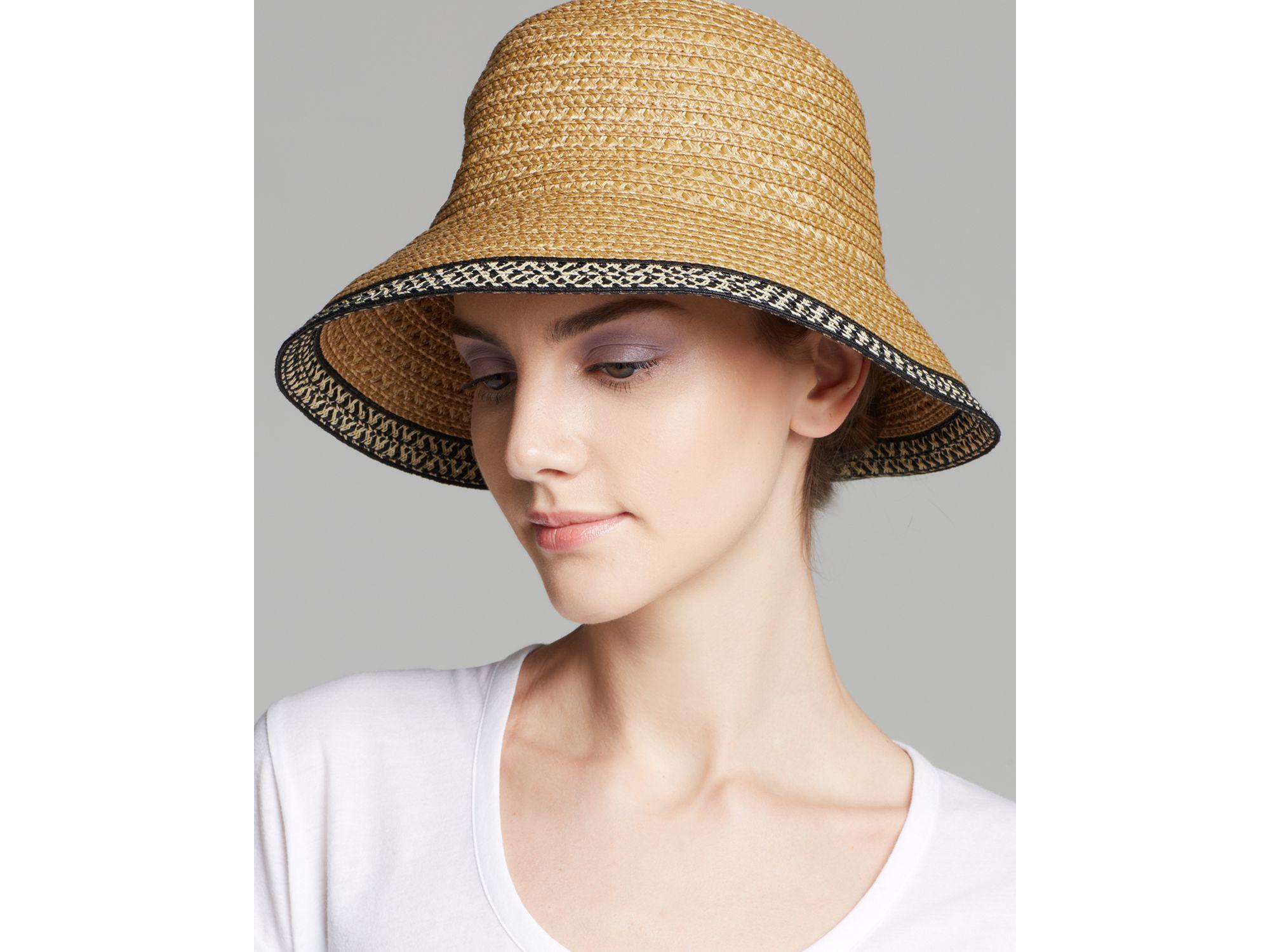 9c368a9d3618c Eric Javits Becca Short Brim Sun Hat in Natural - Lyst