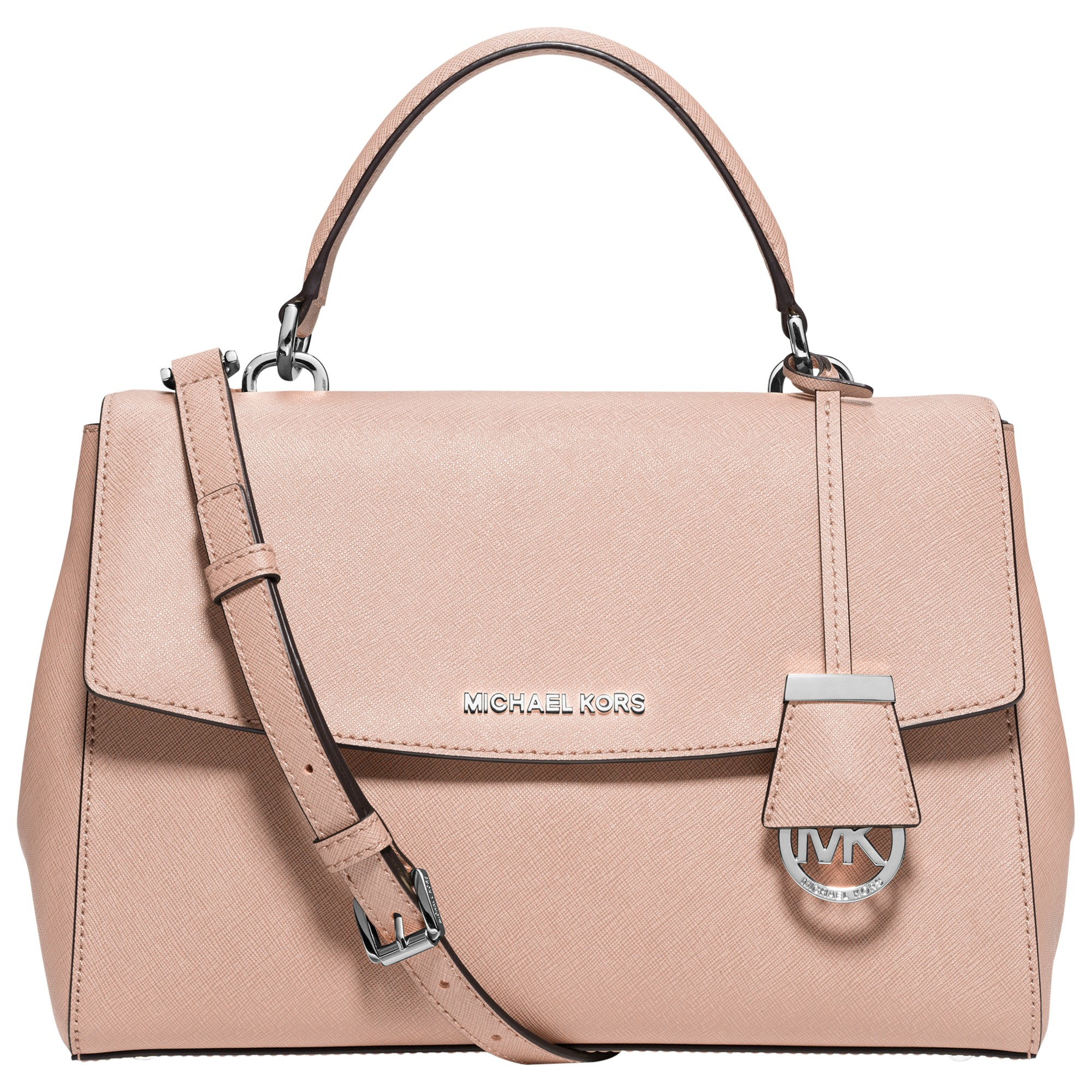 f0370c408f260 ... Small Saffiano Leather Satchel ♡ - YouTube Michael michael kors Ava  Medium Leather Satchel in Pink Lys ...