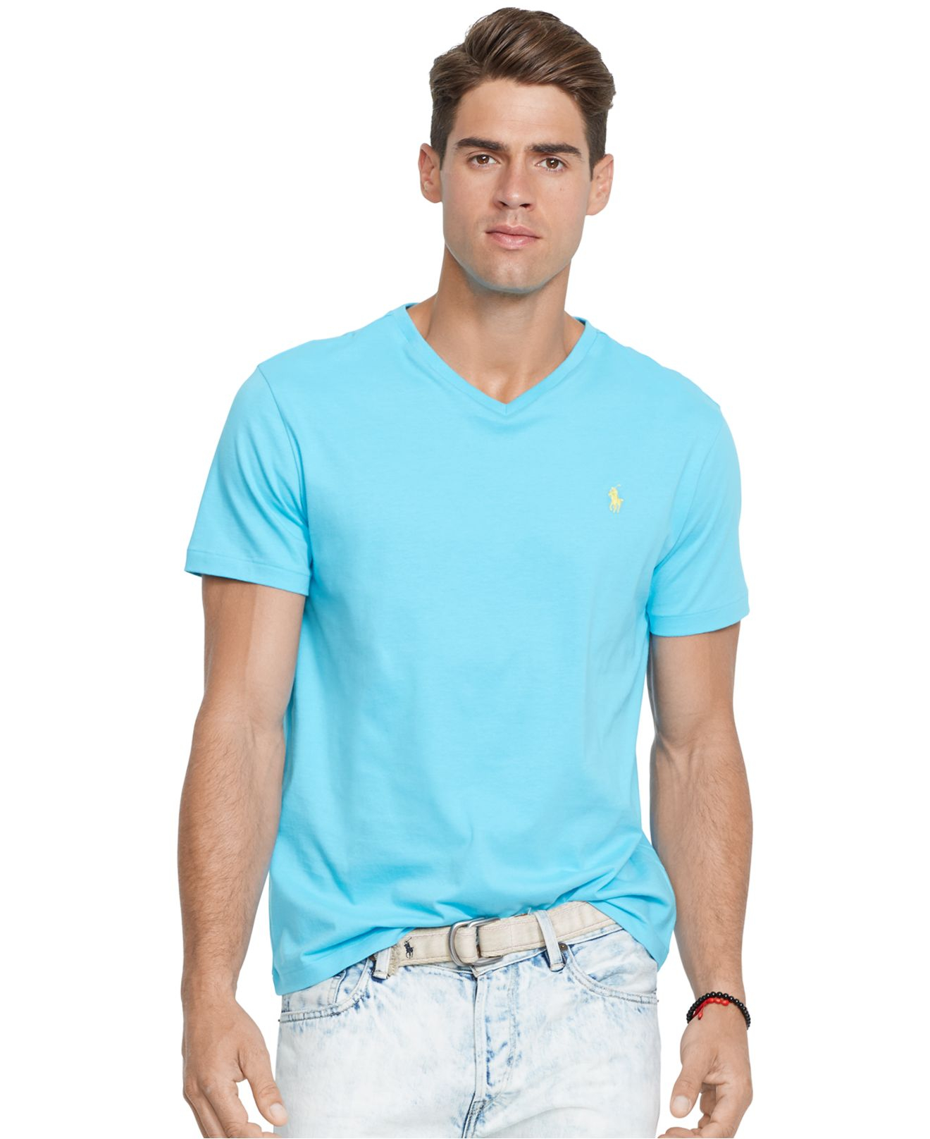 Polo Ralph Lauren Jersey V Neck T Shirt In Blue For Men Lyst