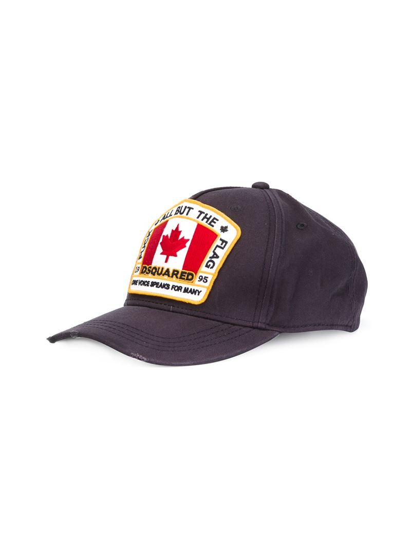 Flag embroidered baseball cap Dsquared2 LJrH8wBD