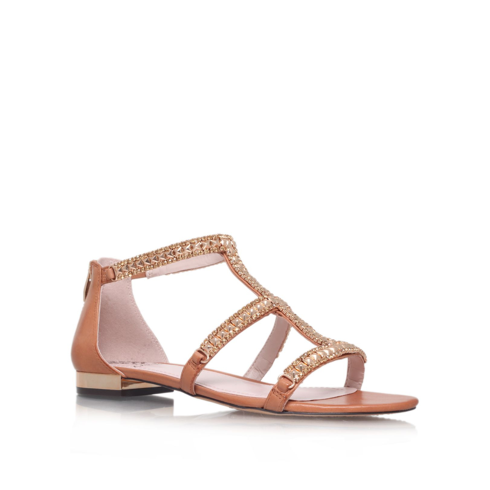 Vince Camuto Hilinda Flat Sandals In Brown Tan Lyst