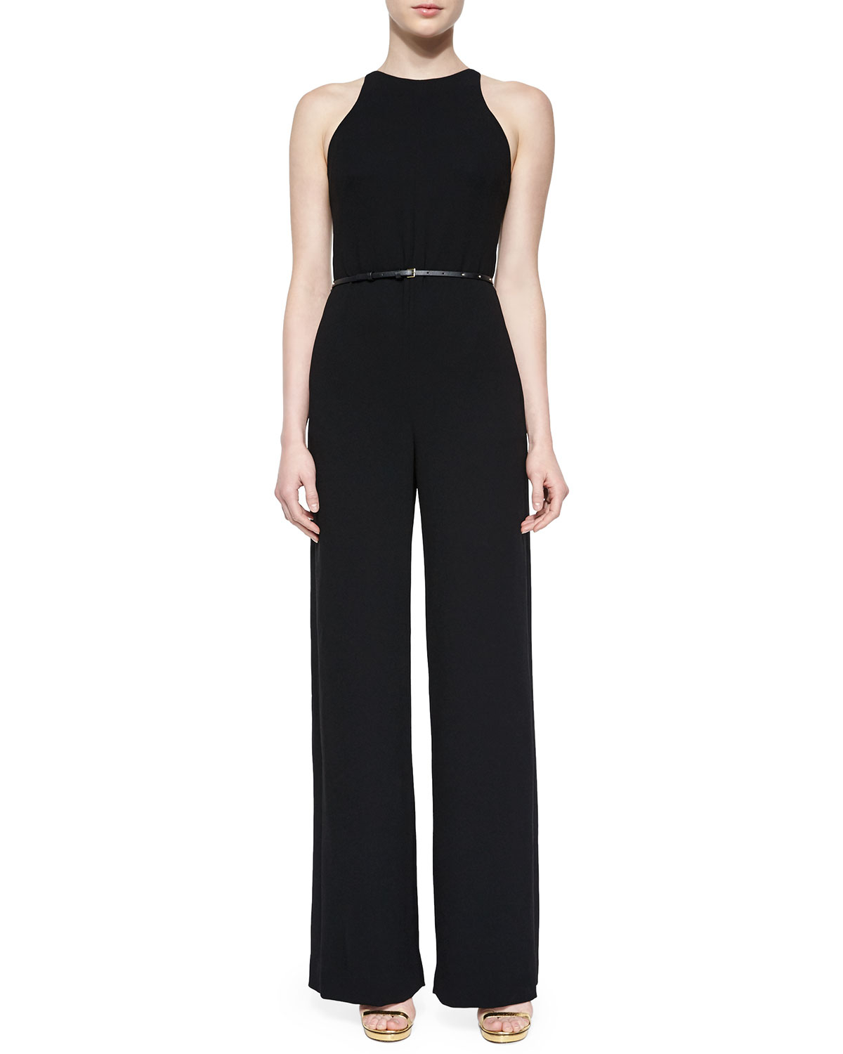 With a chic blazer, leather jacket, or coat, there's no end to how you could style the Lulus Enticing Endeavors Black Jumpsuit! This sleeveless jumpsuit is made from lightly textured knit with a squared-off neckline, and seamed bodice/5().