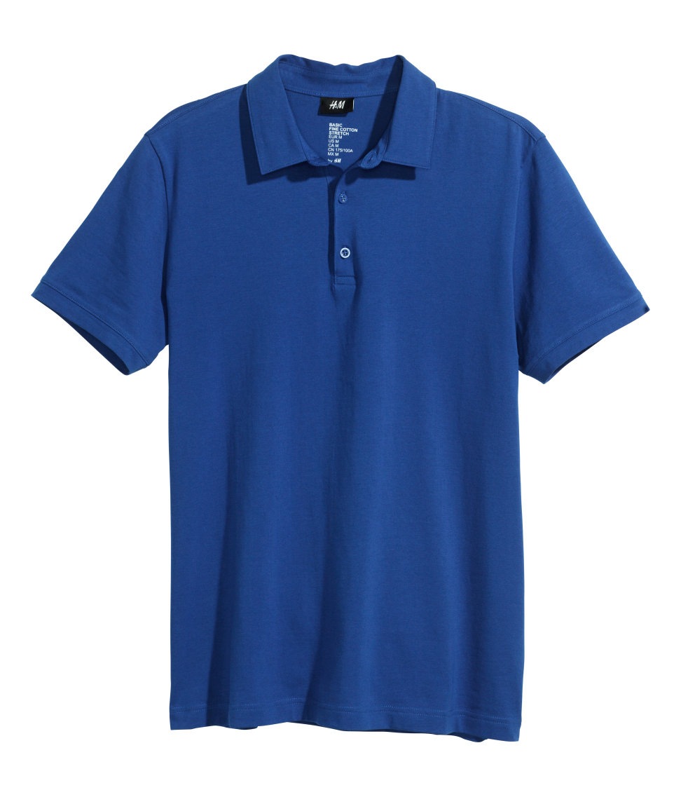 H m polo shirt in blue for men lyst for H m polo shirt mens