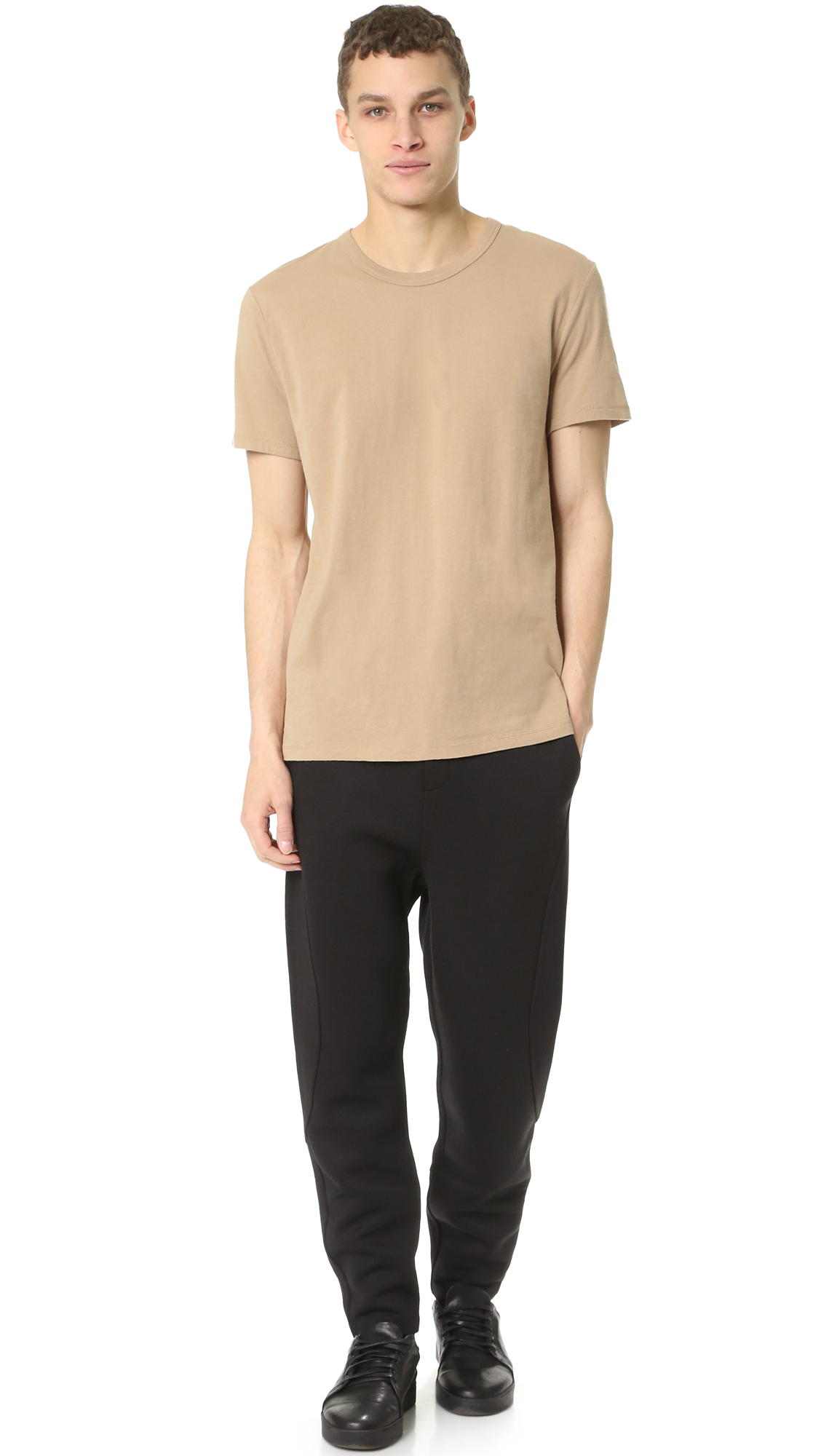 lyst t by alexander wang classic pima tee in natural for men. Black Bedroom Furniture Sets. Home Design Ideas