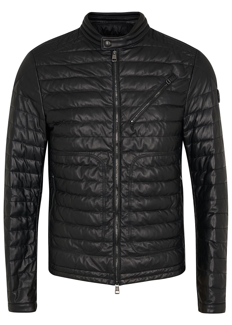 7276a27aec91 Moncler Casteu Black Quilted Leather Jacket in Black for Men - Lyst