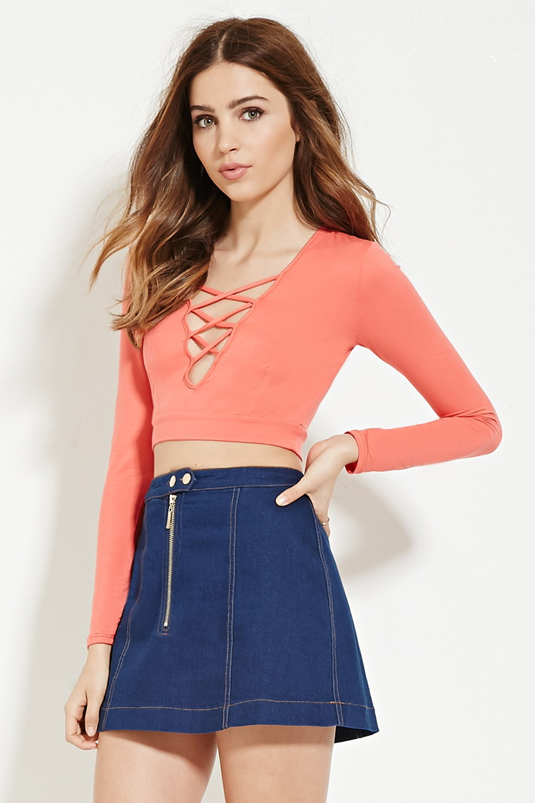 21 Best Images About Cute Boys On Pinterest: Forever 21 Crisscross Crop Top In Pink