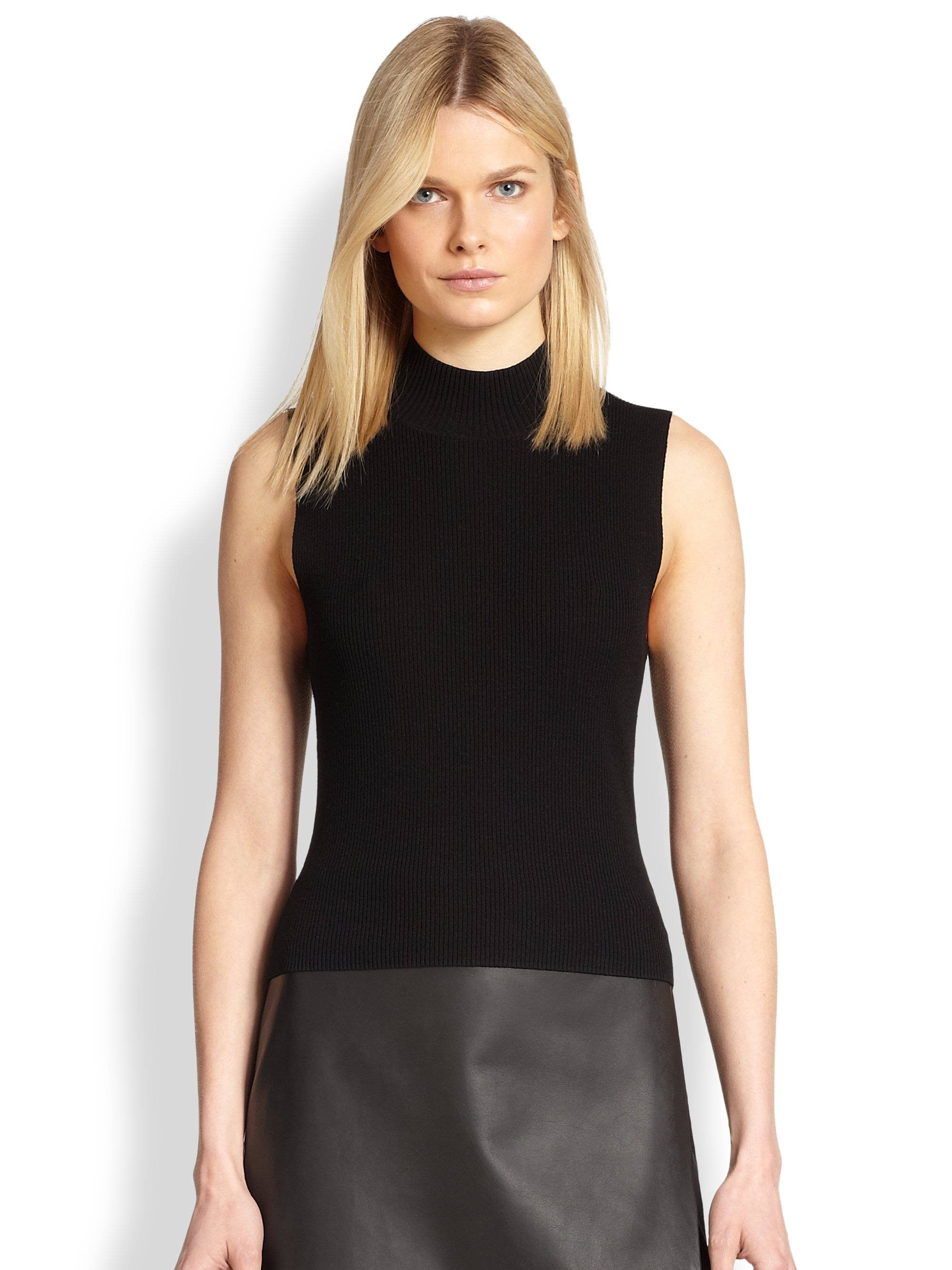 Lyst Theory Prosecco Sleeveless Ribbed Stretch Knit