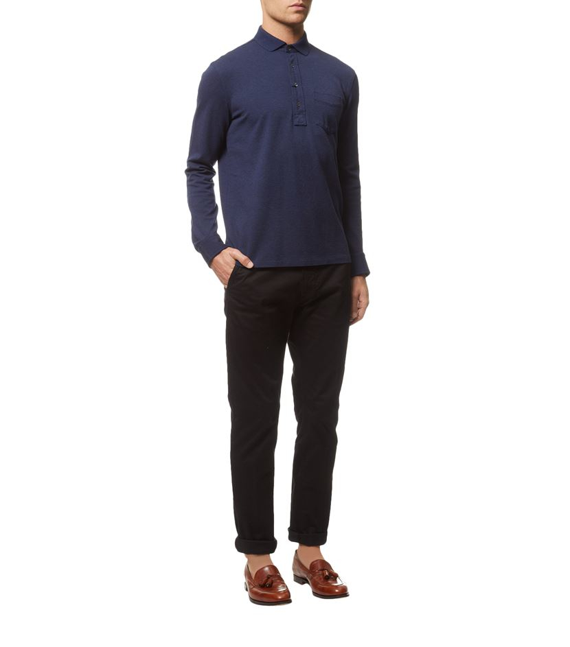 polo ralph lauren micro mesh long sleeve polo shirt in. Black Bedroom Furniture Sets. Home Design Ideas