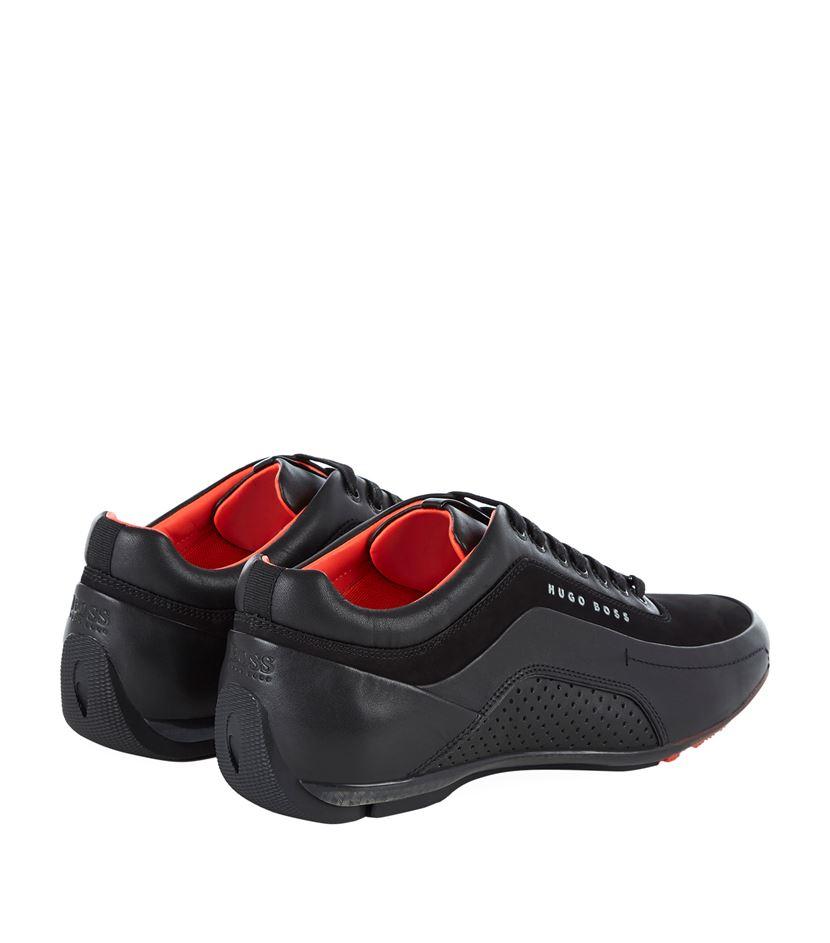 boss racing sneaker in black for men lyst. Black Bedroom Furniture Sets. Home Design Ideas