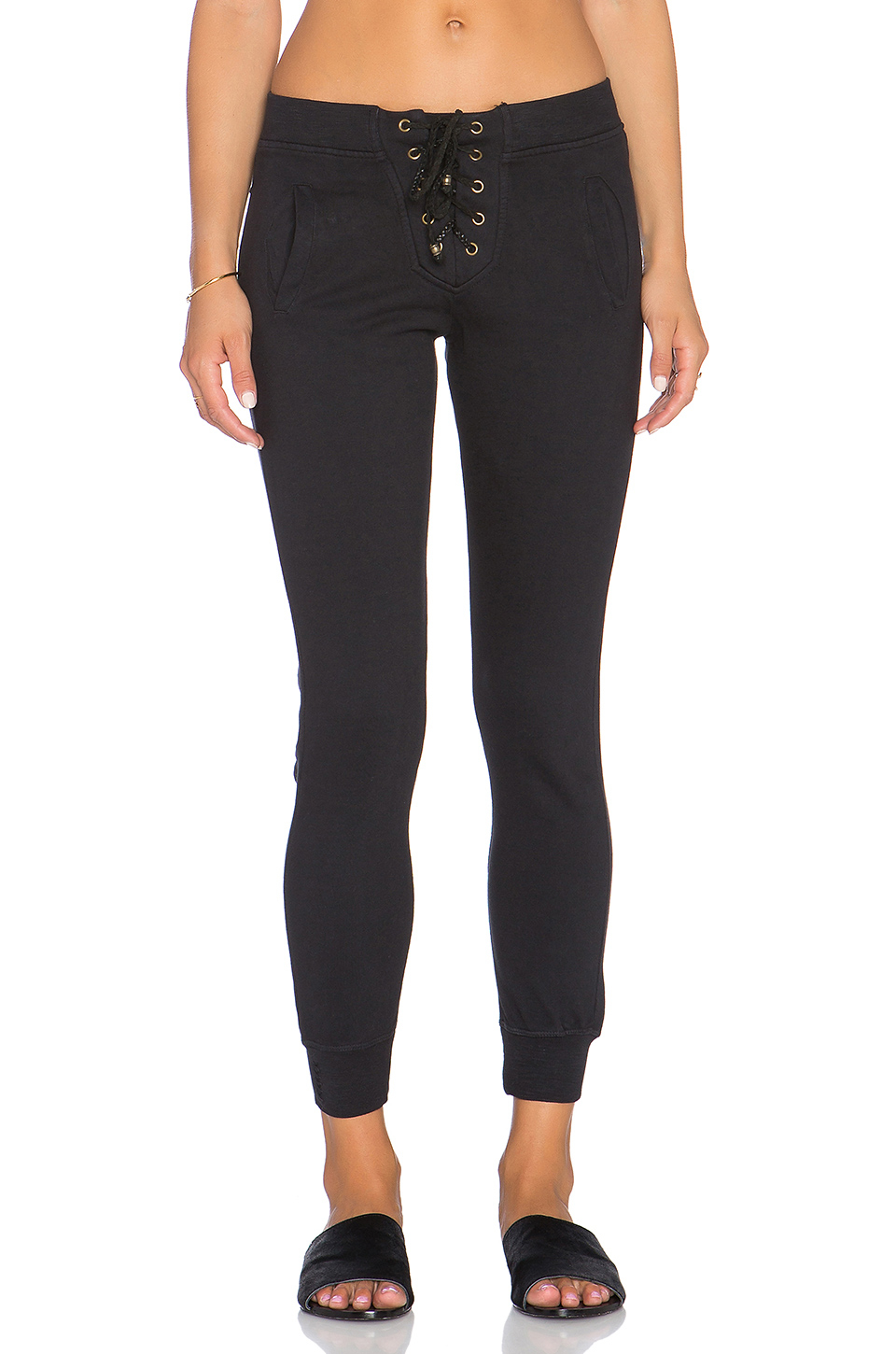 Ragdoll Lace Up Pant In Black Lyst