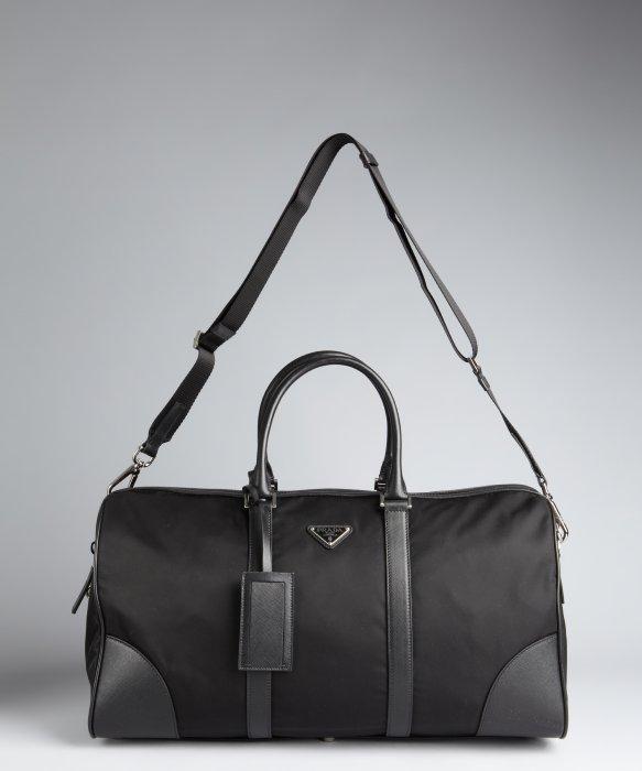 4f37113932d5 ... aliexpress lyst prada nylon zip duffle bag in black for men fd99e 5c9d0