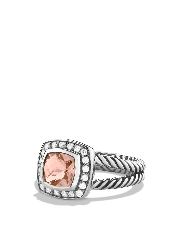 Lyst david yurman petite albion ring with morganite for David yurman inspired jewelry rings