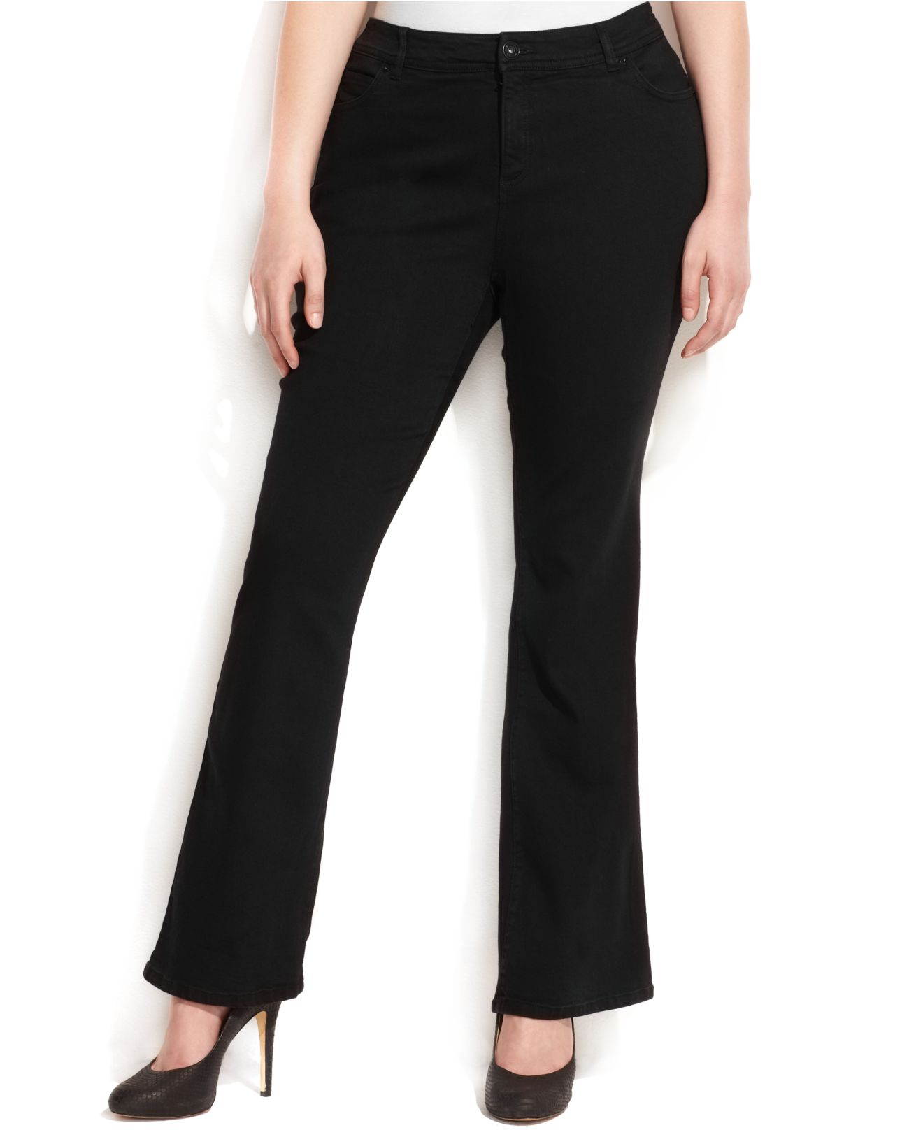294016c6cf INC International Concepts Plus Size Slim Tech Fit Bootcut-Leg Jeans ...
