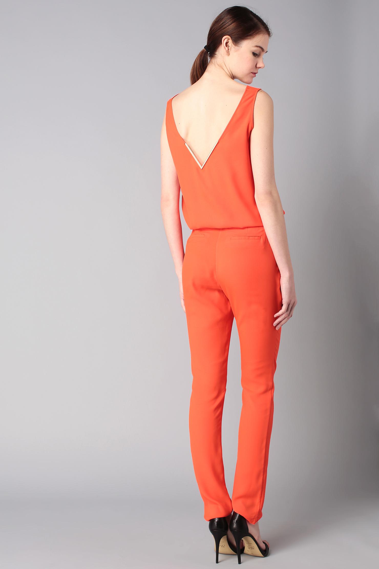 Unique Missguided Crepe Cross Front Jumpsuit In Orange  Lyst
