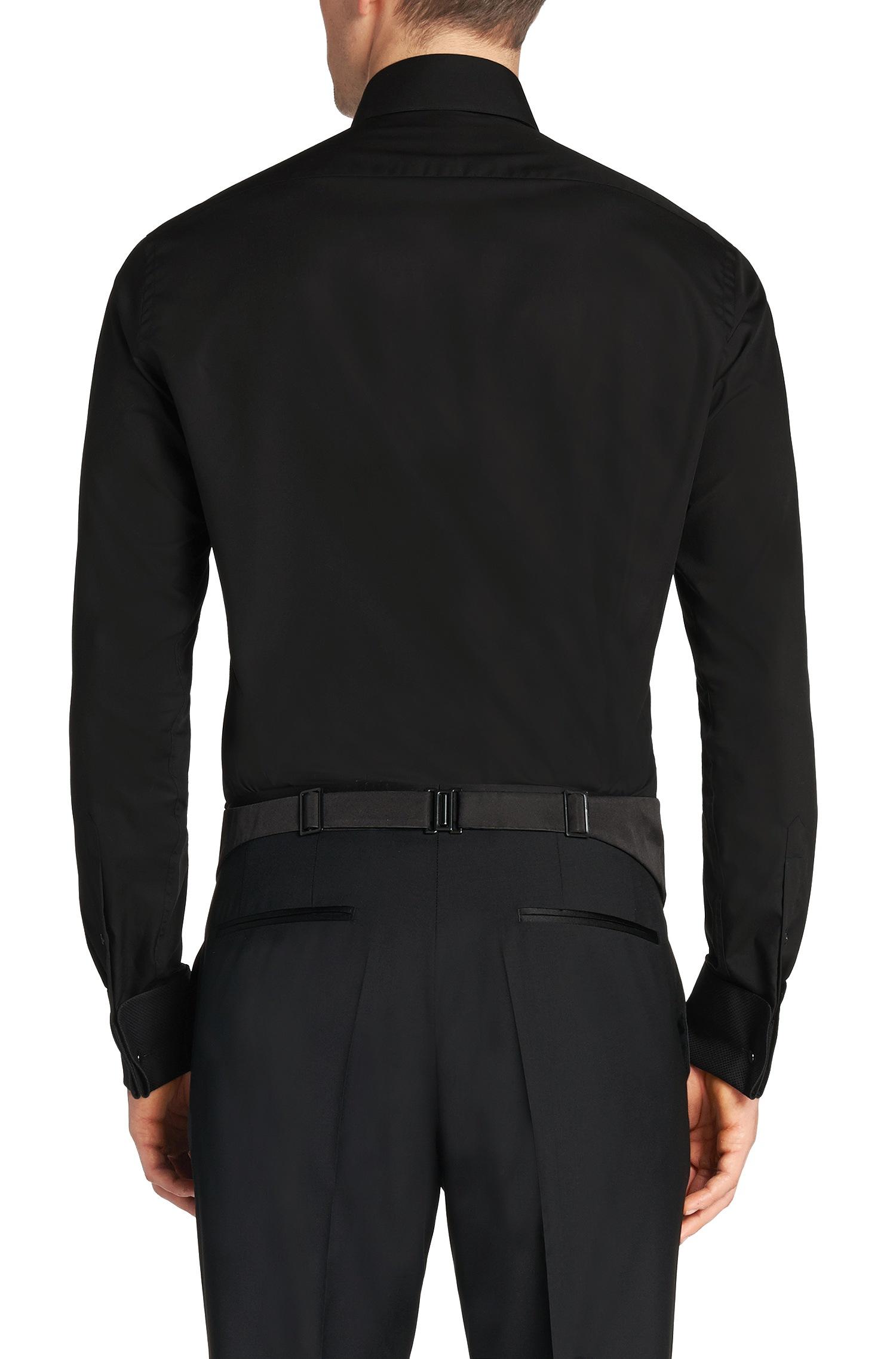 Hugo boss black slim fit tuxedo shirt for Hugo boss formal shirts